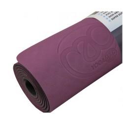 Aubergine/grijs Evolution Yoga Mat met draagkoord 4 mm