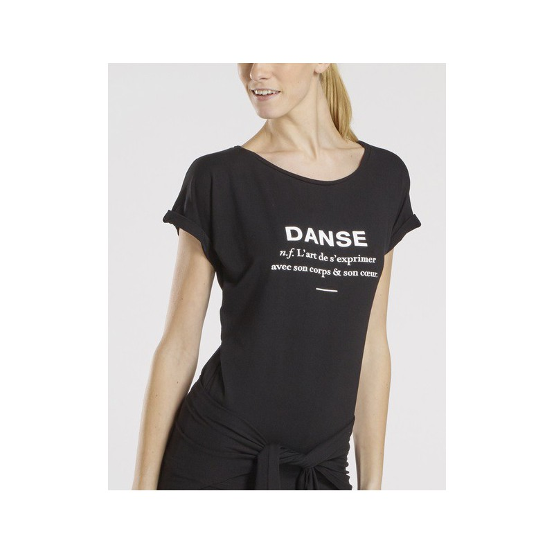 T-shirt Danse met korte mouwen