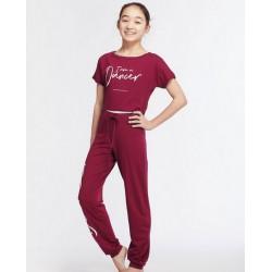 T-shirt I Am voor kinderen - kleur bordeaux