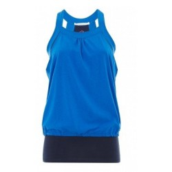 Double Layer Top blauw