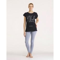 T-shirt met print Yoga