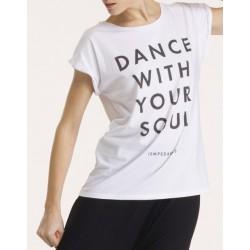 T-shirt met print Dans